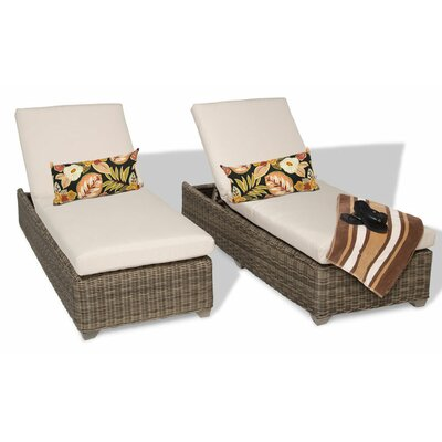 Cape Cod Chaise Lounge with Cushion Fabric: Beige