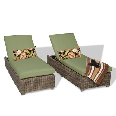 Cape Cod Chaise Lounge with Cushion Fabric: Cilantro