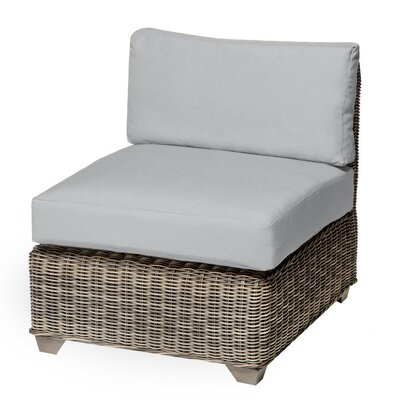 Holly Hill Slipper Chair and Ottoman Fabric: Gray