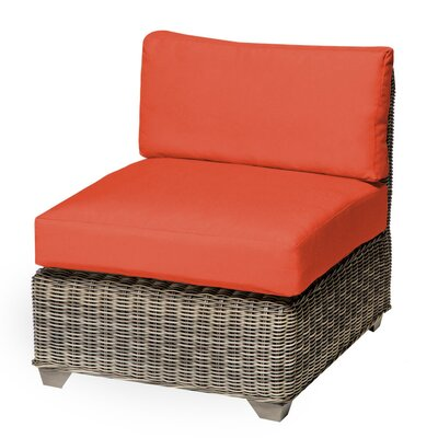 Holly Hill Slipper Chair and Ottoman Fabric: Tangerine