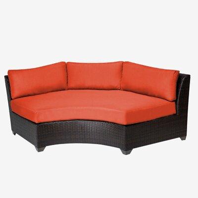 Barbados Sofa with Cushions Fabric: Tangerine