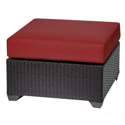 Barbados Ottoman with Cushion Fabric: Terracotta