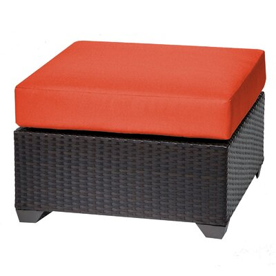 Barbados Ottoman with Cushion Fabric: Tangerine