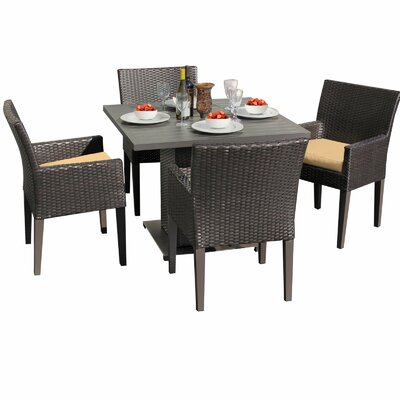Napa 5 Piece Dining Set with Cushions Cushion Color: Sesame