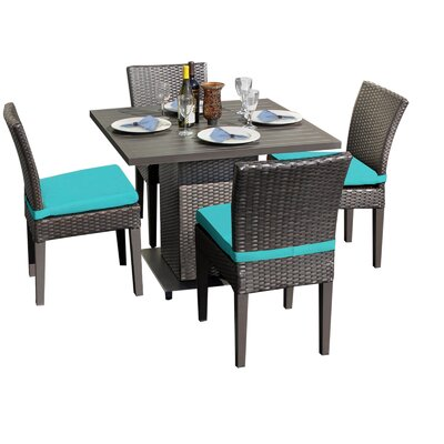 Napa 5 Piece Dining Set with Cushions Cushion Color: Aruba