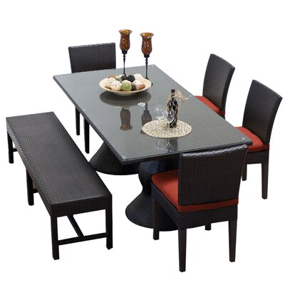 Napa 6 Piece Dining Set with Cushions Cushion Color: Terracotta