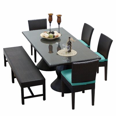 Napa 6 Piece Dining Set with Cushions Cushion Color: Aruba