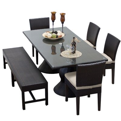 Napa 6 Piece Dining Set with Cushions Cushion Color: Beige