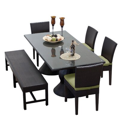 Napa 6 Piece Dining Set with Cushions Cushion Color: Cilantro