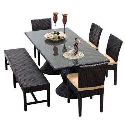 Napa 6 Piece Dining Set with Cushions Cushion Color: Sesame