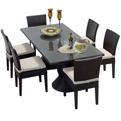 Napa 7 Piece Dining Set with Cushions Cushion Color: Beige