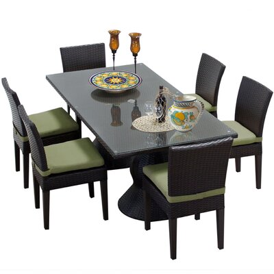 Napa 7 Piece Dining Set with Cushions Cushion Color: Cilantro