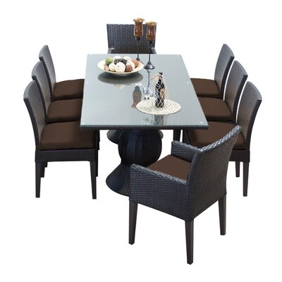 Napa 9 Piece Dining Set with Cushions Cushion Color: Cocoa