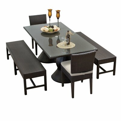 Napa 5 Piece Dining Set with Cushions Cushion Color: Beige