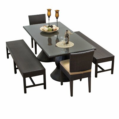Napa 5 Piece Dining Set with Cushions Cushion Color: Terracotta