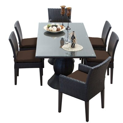 Napa 7 Piece Dining Set with Cushions Cushion Color: Cocoa