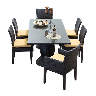 Napa 7 Piece Dining Set with Cushions Cushion Color: Sesame