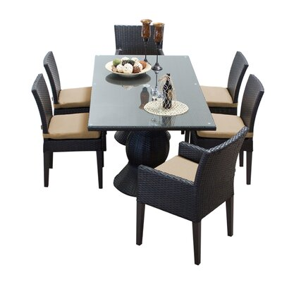 Napa 7 Piece Dining Set with Cushions Cushion Color: Wheat