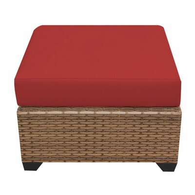 Laguna Ottoman with Cushion Fabric: Terracotta