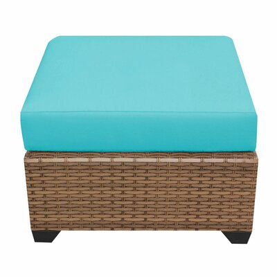 Laguna Ottoman with Cushion Fabric: Tangerine