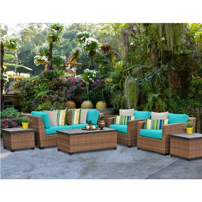 Laguna 7 Piece Deep Seating Group with Cushion Fabric: Aruba