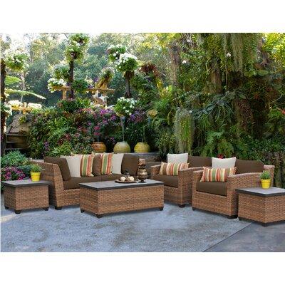Laguna 7 Piece Deep Seating Group with Cushion Fabric: Cocoa
