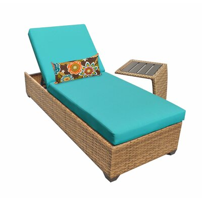 Laguna Chaise Lounge with Cushion Fabric: Aruba