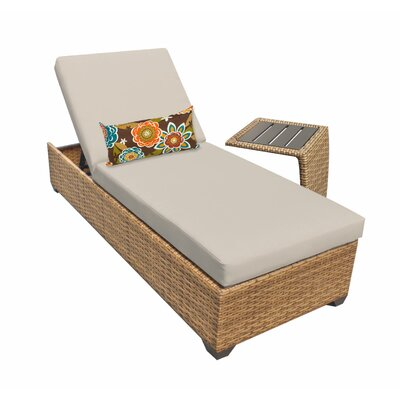 Laguna Chaise Lounge with Cushion Fabric: Beige