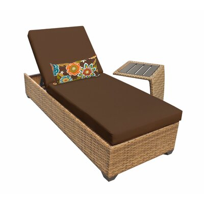 Laguna 2 Piece Chaise Lounge Set with Cushion Fabric: Cocoa