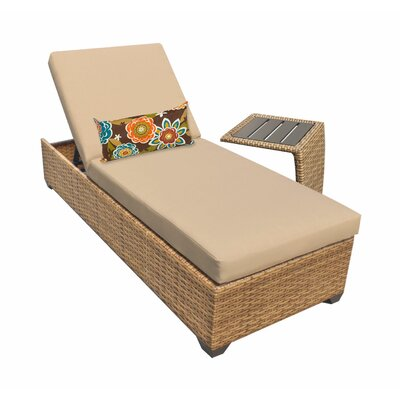 Laguna Chaise Lounge with Cushion Fabric: Wheat