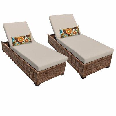 Laguna Chaise Lounge with Cushion Fabric: Beige