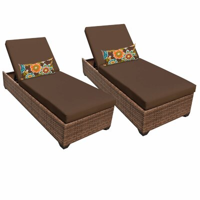 Laguna Chaise Lounge with Cushion Fabric: Cocoa