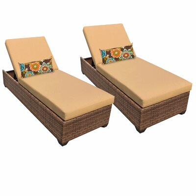 Laguna Chaise Lounge with Cushion Fabric: Sesame