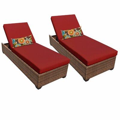 Laguna Chaise Lounge with Cushion Fabric: Terracotta
