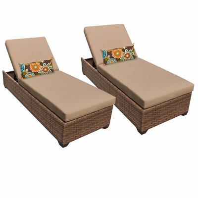Laguna Chaise Lounge with Cushion Fabric: Wheat
