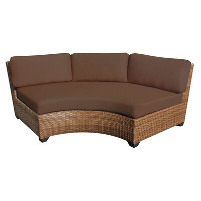 Laguna Curved Armless Sofa with Cushions Finish: Cocoa