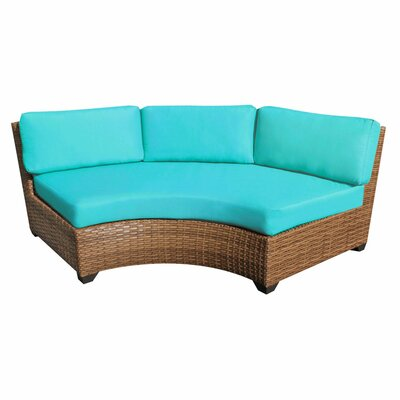 Laguna Curved Armless Sofa with Cushions Finish: Aruba