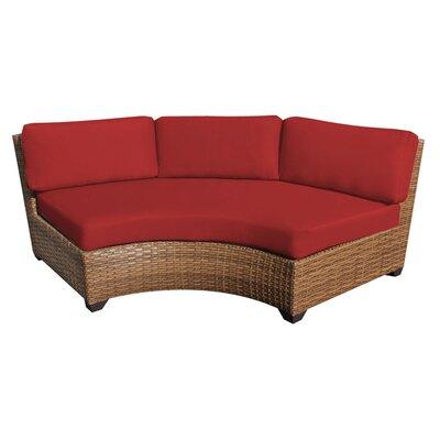 Laguna Curved Armless Sofa with Cushions Finish: Terracotta