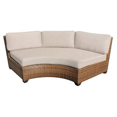 Laguna Curved Armless Sofa with Cushions Finish: Beige