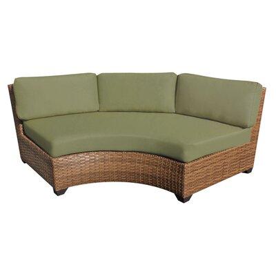 Laguna Curved Armless Sofa with Cushions Finish: Cilantro