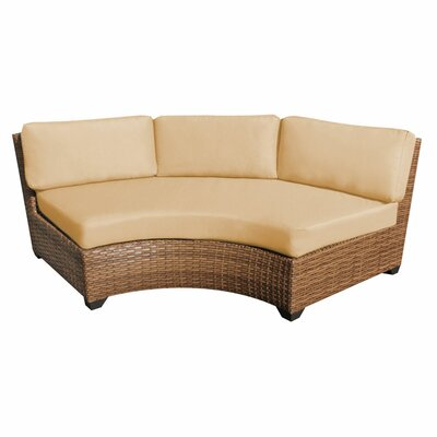 Laguna Curved Armless Sofa with Cushions Finish: Sesame