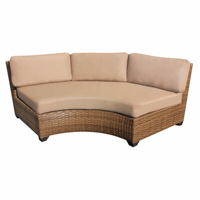 Laguna Curved Armless Sofa with Cushions Finish: Wheat