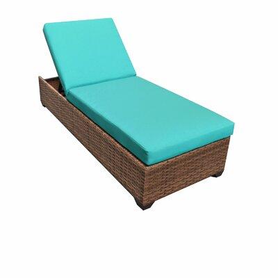 Laguna Chaise Lounge with Cushions Fabric: Aruba