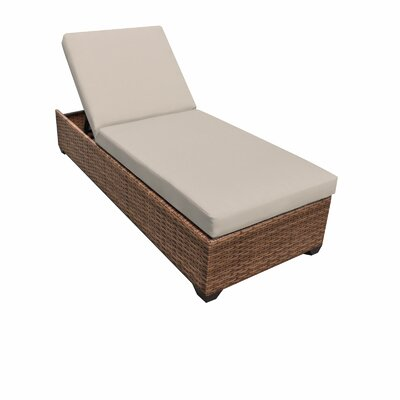 Laguna Chaise Lounge with Cushions Fabric: Beige