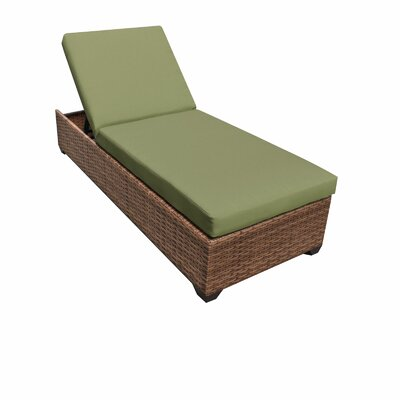 Laguna Chaise Lounge with Cushions Fabric: Cilantro