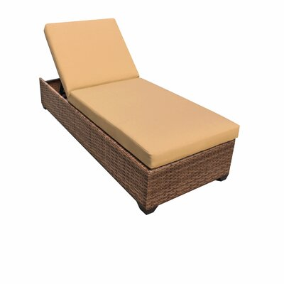 Laguna Chaise Lounge with Cushions Fabric: Sesame