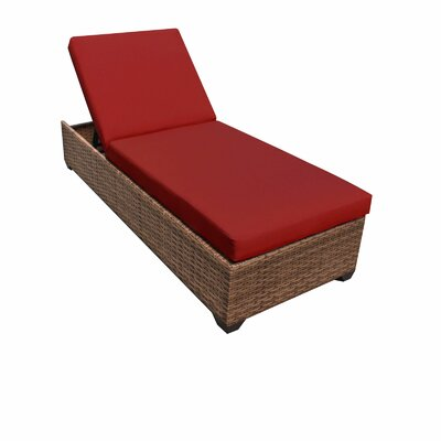 Laguna Chaise Lounge with Cushions Fabric: Terracotta