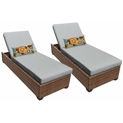 Laguna Chaise Lounge with Cushion Fabric: Gray