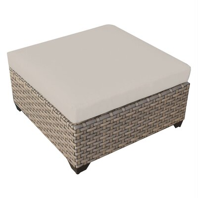Monterey Ottoman with Cushion Fabric: Beige