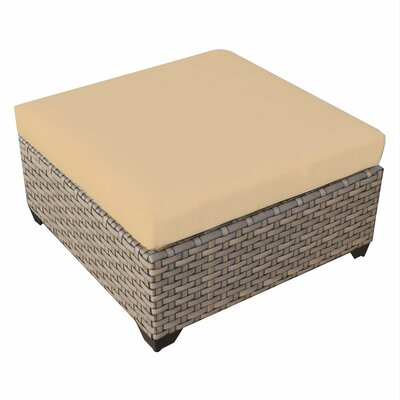 Monterey Ottoman with Cushion Fabric: Sesame